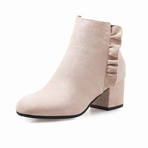 Stivali stivali 43 stivali Di Con 40 E 5cm Stivali 5 albicocca 34 Da Punta Ig Donna Spesso Autunno A Inverno Alto Martin tacco zq8nRgTwZ