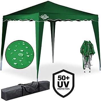 Deuba Tonnelle tente de jardin 3x3 m pavillon réception pliable vert ...