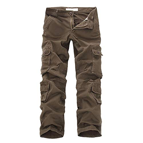 Stoota_Clothes Summer Fashion Mid-Rise Trousers for Men,Longs Loose Casual Multi-Pocket Tooling Pants ()