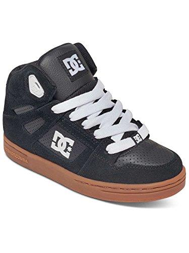 Dc Shoes Rebound - Zapatillas Altas para Chicos, Color: BLACK/GUM, Talla: 34 EU (3 US / 2 UK) (Niños/Kids) Black/Gum