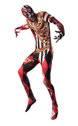 Rubie's Costume Co Men's Acrosplat Print 2Nd Skin Bodysuit, Multi, Medium (Clown Bodysuit)