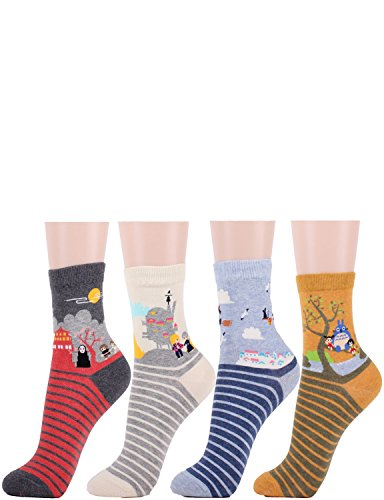 10STAR11-Womens-Girls-Unique-Famous-Japanese-Animation-Series-Casual-Crew-Socks