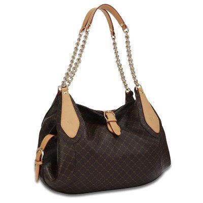 Signature Buckle Carrier Handbag Color: Brown