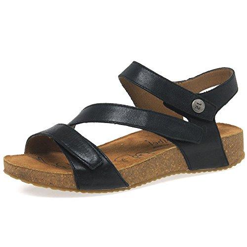 Josef Seibel Women's Tonga 25 Leather Sandals 38 M EU/ 7-8 B(M) US Black