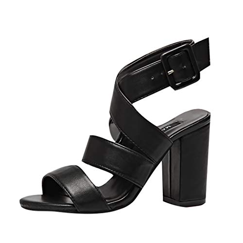 GHrcvdhw New Summer Trendy Retro-Roman High Heel Open-Toed Sandals Women Buckle Sandals Shoes - Stripe Sneakers Mens Patent