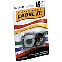 Label Printer Tape Cartridge, 6MM, Black On White