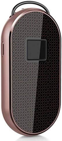 GXWLWXMS スマートフィンガープリント南京錠セキュリティ盗難防止スチールケーブルバックパック荷物スーツケースバイクシルバー荷物ロックは自動的に移動アラーム (Color : Rose Gold)