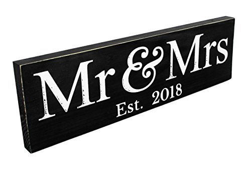 Mr & Mrs Sign (GIFT BOX included), 2018, (LARGE), Wedding Present, Newlywed Gift / Decoration