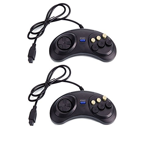 2x New 6 Button Game Controller for Sega Genesis - Revo Canada