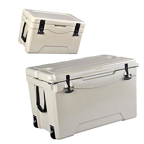 Asia-L 75+28-Quart Ice Chest, Heavy Duty High Performance Insulated Cooler, Two Packs with Wheels