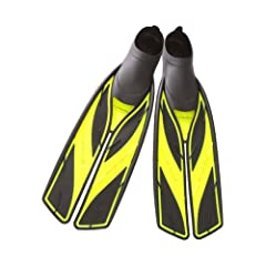 The only time that less effort can take you farther. The Atomic Aquatics Full Foot Split Fins are expertly designed to provide an easy-to-kick experience while swimming, diving, and snorkeling. Slowly kick a few times and see these fins take ...