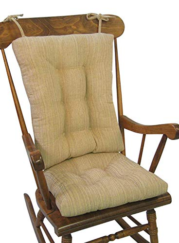 The Gripper Non-Slip Polar Jumbo Rocking Chair Cushions, Sand
