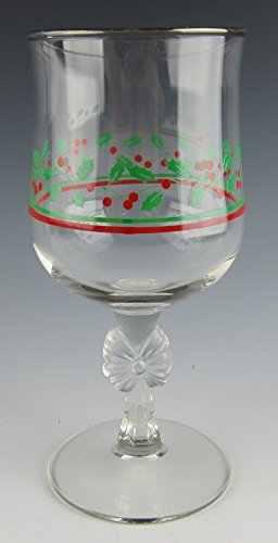 Holly Goblets - Libbey ARBY'S HOLLY & BERRY Water Goblet(s) EXCELLENT
