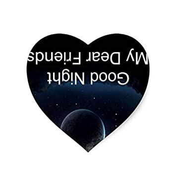 Amazoncom Galaxy Planet Heart Mouse Pad With Good Night My Dear