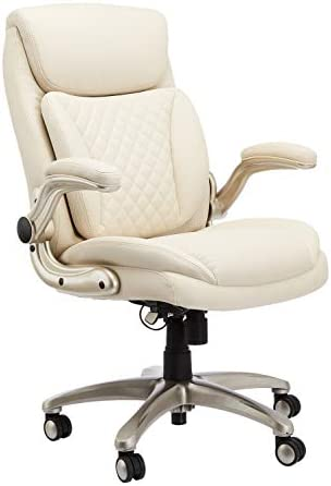 AmazonCommercial Ergonomic High-Back Rhombus-Stitched Leather Executive Chair
