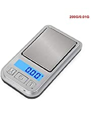 HFPOZ Exquisite Compact Electronic Scale Matchbox Size Portable Mini Jewelry Medicine 0.01g Precision Carat Small Scale