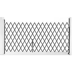 7-1/2'W Single Folding Security Gate, 6-1/2'H