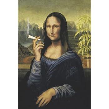 Large 35x23 inch Mona Lisa Smoking Poster Poster Print, 24x36