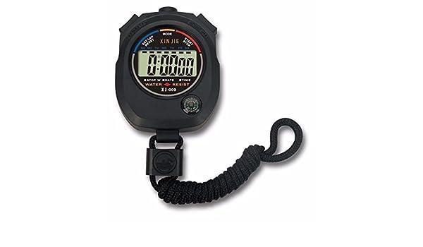 Kycut - Cronómetro digital con cronógrafo y contador de alarma, resistente al agua: Amazon.es: Belleza