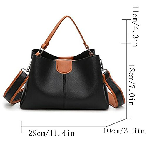 Shopping Bag Leather Black Bags Shoulder Handbag Bag Women's Women's Women Clutches Bag Fashion Bags Handbag Shoulder Bag Tote Bag Women Bag Handbags Shoulder 7BdCTwq