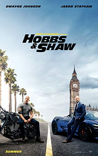 Movie Poster: Hobbs and Shaw 2019 Posters and Prints Unframed Wall Art Gifts 12x18