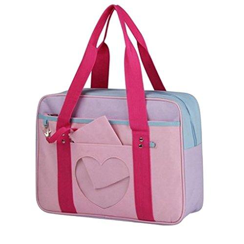 Ita Bag Shoulder Bag Crossbody Bag Purse Anime School Bag DIY, Cosplay, Anime Expo, Comic Con (Z-Rose)