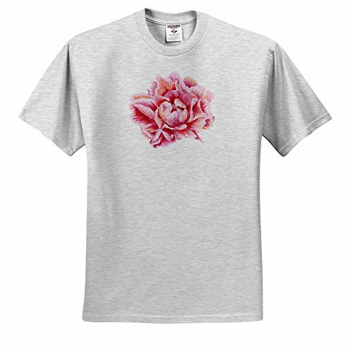 Price comparison product image Anne Marie Baugh - Watercolor - Pretty Pink Watercolor Peony Flower - T-Shirts - Youth Birch-Gray-T-Shirt Med(10-12) (ts_252792_29)