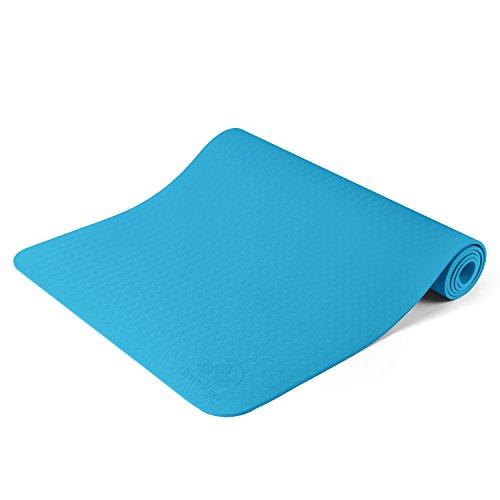 Clever Yoga Non-Slip 6mm Yoga Mat - Light Blue  yoga mat zen 417NeMfmRUL