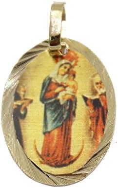 Nuestra Señora de la medalla de Rosario de Chiquinquirá – Virgen del Rosario Chiquinquirá medalla chapado en oro de 14 K Medalla con 18 pulgadas cadena: Amazon.es: Joyería