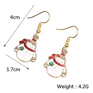 Gespout Earrings Christmas Series Cartoon Pendant Design Earrings Women Jewellery Accessories Christmas Eve Wedding…