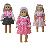 Jz Dolls 3 Pack Baby Doll Clothes / Outfits Fits For American Girl Doll And Other 18 Inch Doll Xmas Gift-Daily Casual Style