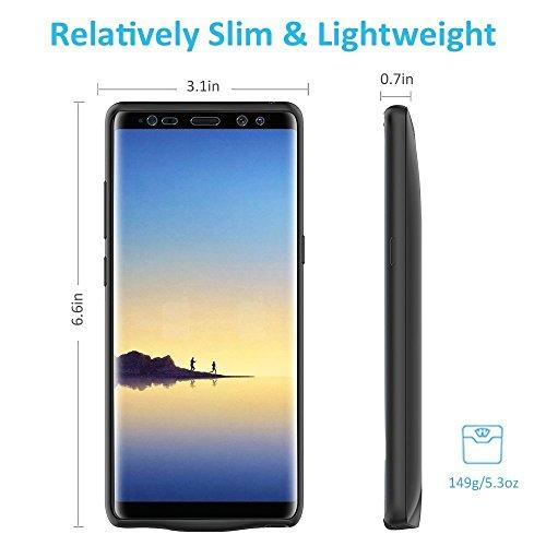 Bovon 5500mAh Coque Batterie Galaxy Note 8 Chargeur Portable Batterie Externe Rechargeable Puissante Power Bank Coque Chargeur de Protection pour Samsung Galaxy Note 8 [6.3 Pouces] (Noir)