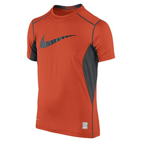 Nike Boys Pro Core Fitted Swoosh Tee (XS, ORANGE MEDIUM (892))
