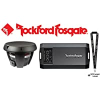 Rockford Fosgate Power T1D212 12 dual 2-ohm voice coil component subwoofer & Power T750X1bd Compact mono subwoofer amplifier — 750 watts RMS x 1 at 1 to 2 ohms and a SOTS Lanyard