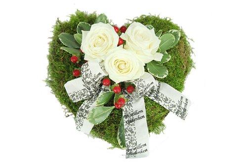 Grabschmuck Trauerherz - Blumen für ein Grab
