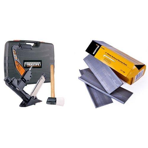 Freeman PFL618BR 3-in-1 Pneumatic Flooring Nailer with BOSTITCH FLN-200 2-Inch Flooring L-Nail, 1000-Per Box