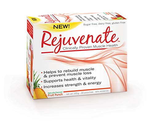 Element Nutrition, Rejuvenate, Essential Amino Acid Blend, Clinically Proven Muscle Health Supplement for Age 40 Plus, 165 Gram (Fruit Punch, 30 Servings),White
