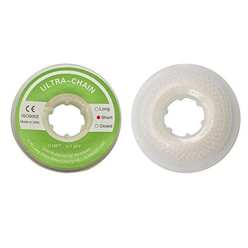 Wecando Clear Dental Orthodontic Elastic Chain Power Chains Brace Orthodontic Spool Elastic Rubber Band (Short)