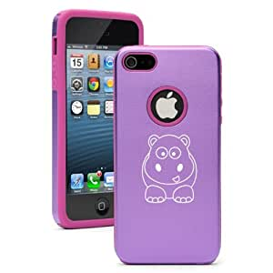 Apple iPhone 5 5S Purple 5D420 Aluminum & Silicone Case Cover Baby Hippo
