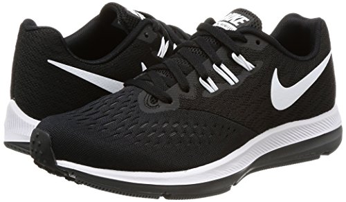 NIKE New Women's Zoom Winflo 4 Running Shoe Black/White/Grey 7