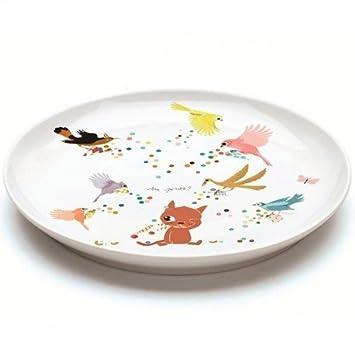 Djeco - Assiette plate en porcelaine Chatmallow Vaisselle Djeco pour ...