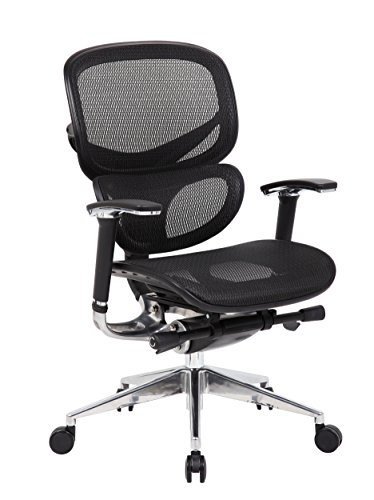 Boss Office Products B6888-BK Multi-Function Mesh Chair in Black by Boss Office Products