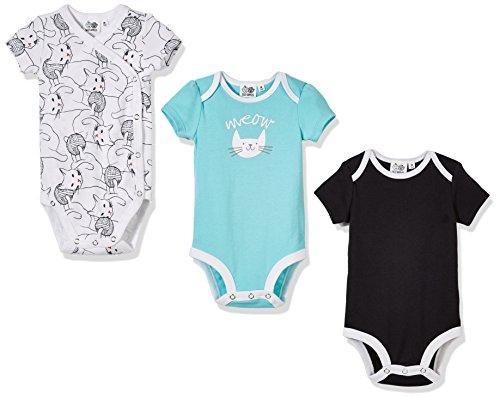 Silly Apples Baby Unisex Cotton Blend 3-Pack Short-Sleeve Bodysuit Onesies (6M)