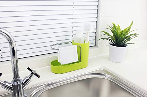 Convenient Kitchen Sink Organizer, Sink Caddy, Sinkware, Sponge Holder, Soap Dish, Brushes and Scrubbers Holder, Bathroom Caddy, Bathroom Organizer | 2 Top Quality Sponges FREE by SKA HomeStore (Image #6)
