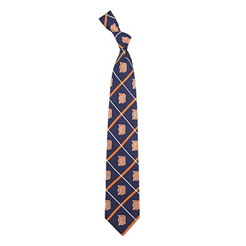 - Detroit Tigers MLB Silver Line Woven Silk Neck Tie Eagles Wings