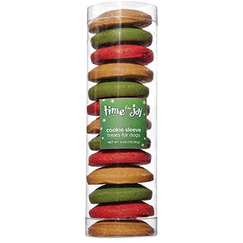 Time for Joy Holiday Cookie Sleeve Dog Treats, 4 oz by Time for Joy