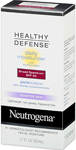 Neutrogena Healthy Defense Daily Moisturizer Sensitive Skin, SPF 50 Lotion 1.70 oz (6 Pack)