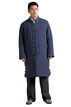 Katuo Chinese Traditional Mens Cotton Coat Meditation