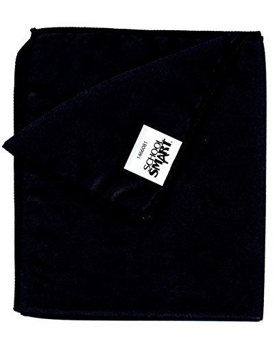 (School Smart 1466081 Washable Dry-Erase Cloth for Use with Cleaning Dry-Erase Boards and Chalk Boards, Microfiber, 12