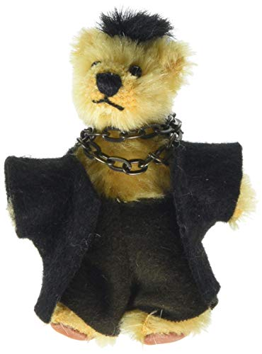 Heinrich Bauer 535/16 Pia Mohair Bear with Movable Joints Plush Toy, 16 cm, Gold, Multi Color ()